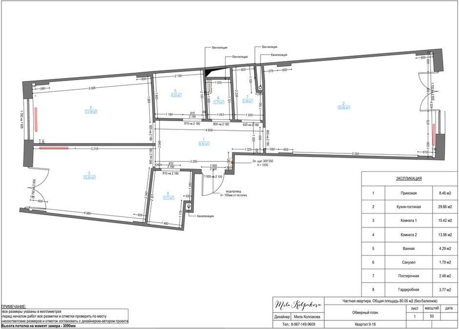 Фотография: Планировки в стиле , Квартира, Проект недели, Мила Колпакова, Мытищи, Монолитный дом, 3 комнаты, 60-90 метров, ЖК «Квартал 9-18» – фото на INMYROOM