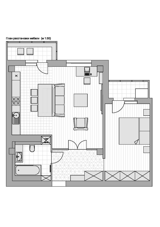 Фотография: Планировки в стиле , Современный, Квартира, Проект недели, Самара, Евгения Шимкевич, новостройка, Монолитный дом, 2 комнаты, 60-90 метров – фото на INMYROOM