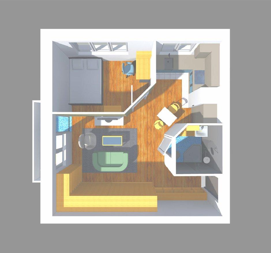 Фотография: Мебель и свет в стиле Прованс и Кантри, Малогабаритная квартира, Квартира, Планировки, Перепланировка, Ремонт на практике, Ксения Чупина, перепланировка недели, идеи перепланировки однушки, перепланировка однокомнатной квартиры, как обустроить однушку, как сделать из однушки студию, перепланировка однушки в санкт-петербурге, перепланировка в хрущевке, перепланировка в брежневке, Панельный дом, 1 комната, до 40 метров, I-507 – фото на INMYROOM