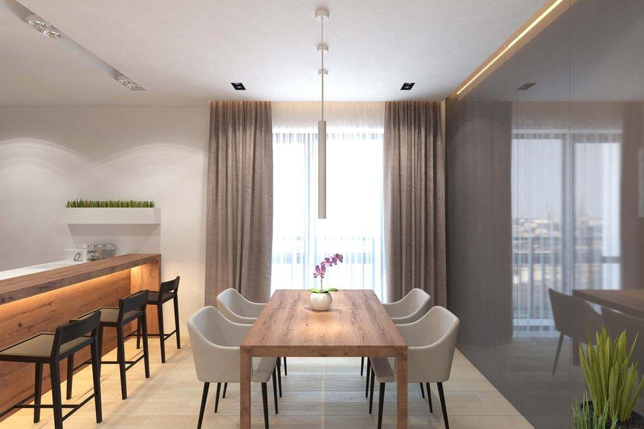 Фотография: Кухня и столовая в стиле Современный, Минимализм, Квартира, Проект недели, Geometrium – фото на InMyRoom.ru