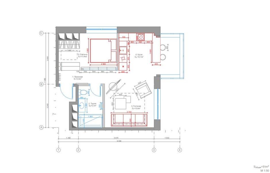 Фотография: Планировки в стиле , Лофт, Квартира, Проект недели, «Победа дизайна» – фото на INMYROOM