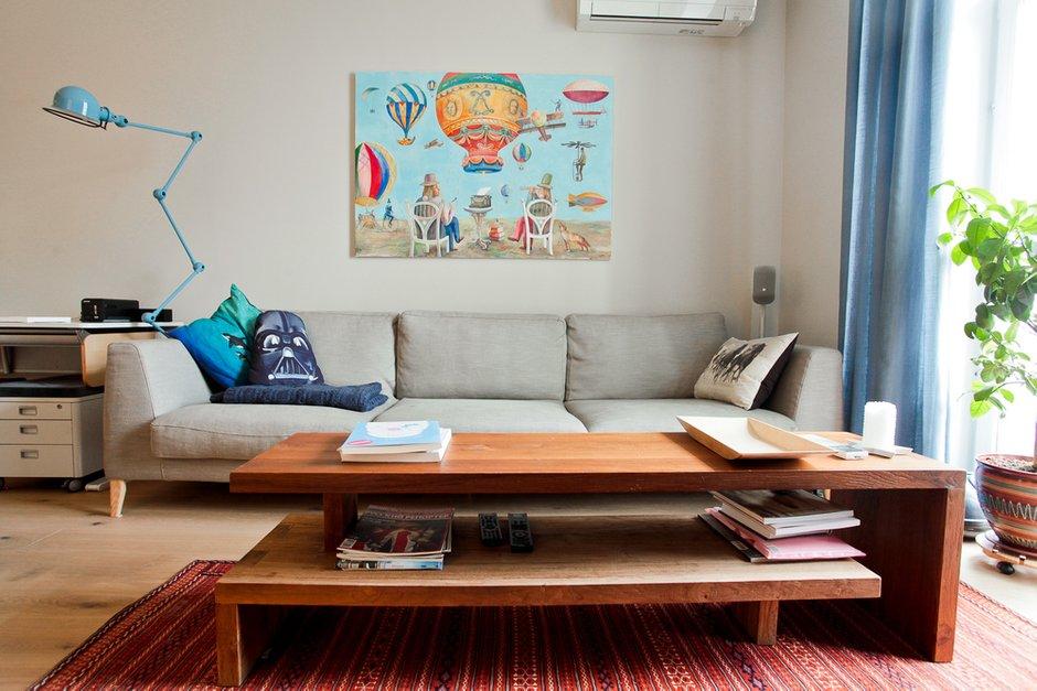 Фотография: Гостиная в стиле Лофт, Эко, Скандинавский, Современный, Квартира, Проект недели – фото на INMYROOM