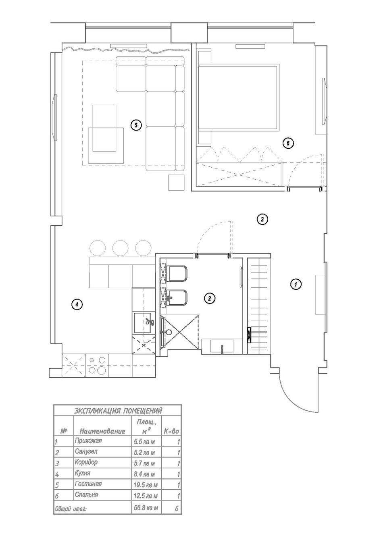Фотография: Планировки в стиле , Современный, Квартира, Проект недели – фото на INMYROOM