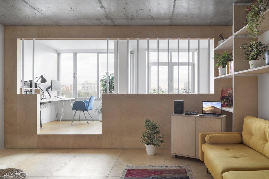Фотография:  в стиле , Квартира, Студия, Минимализм, Проект недели, Москва, 40-60 метров, Схема – фото на INMYROOM
