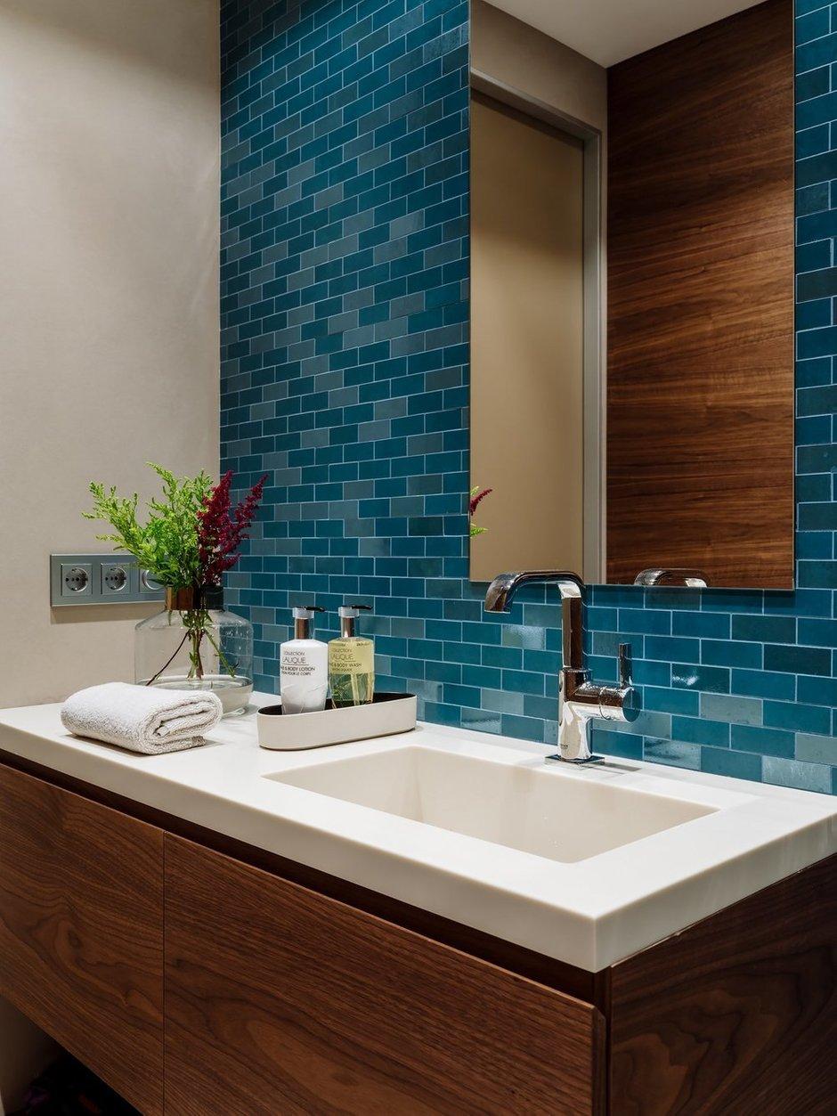 Фотография: Ванная в стиле Современный, Квартира, Проект недели, Москва, 4 и больше, Более 90 метров, Нина Шуберт – фото на INMYROOM