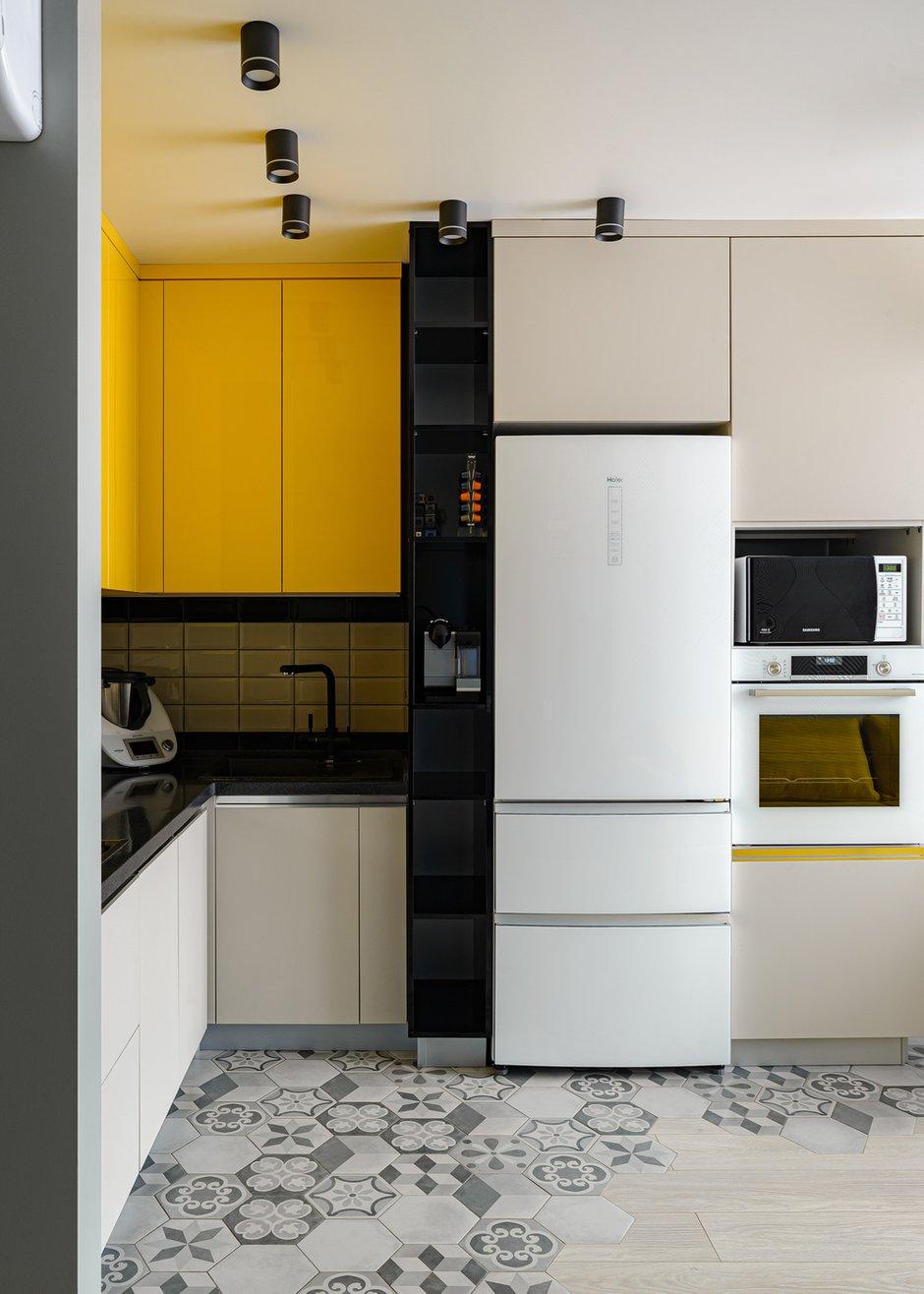 Фотография: Кухня и столовая в стиле Современный, Квартира, Проект недели, Новосибирск, 3 комнаты, 60-90 метров, Студия 3D, Полина Марченко – фото на INMYROOM