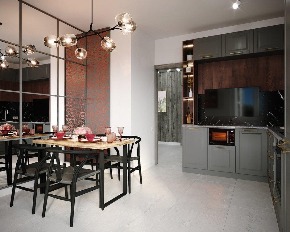 Фотография: Кухня и столовая в стиле Современный, Квартира, Советы, 2 комнаты, #каксэкономить, Светлана Удзилаури – фото на INMYROOM