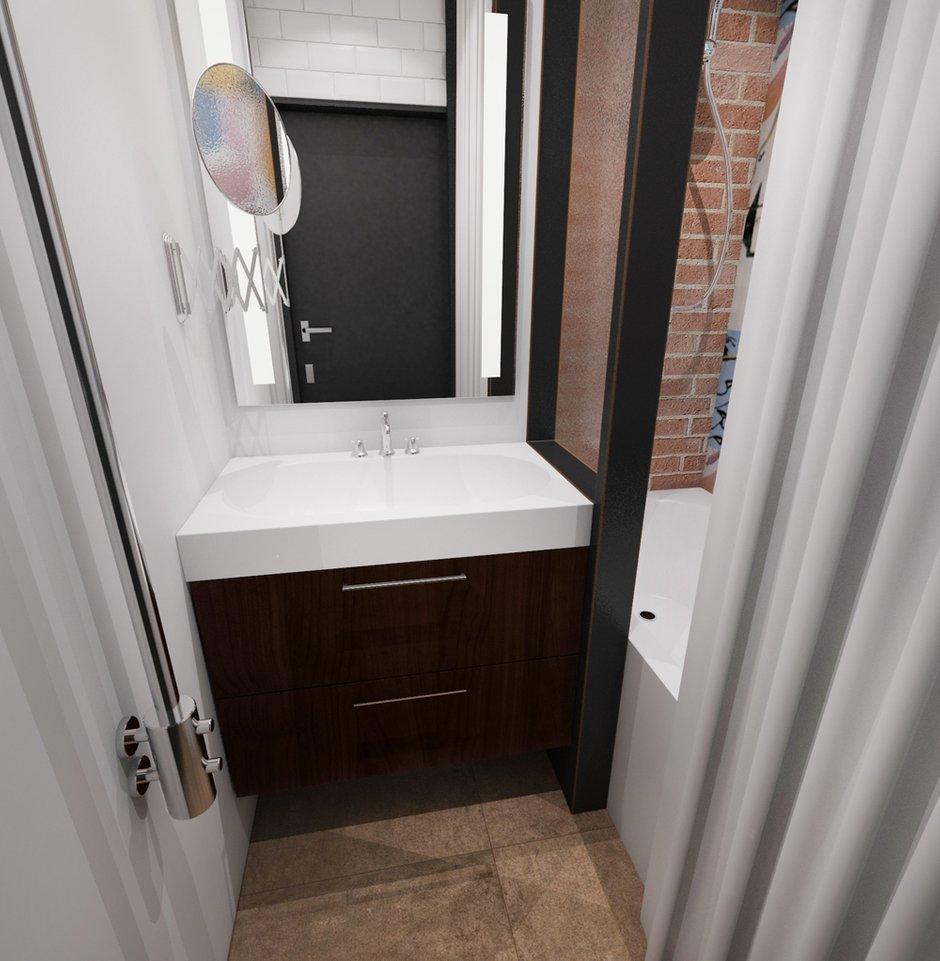 Фотография: Ванная в стиле Лофт, Эклектика, Квартира, Проект недели, ИКЕА, Circle Line – фото на INMYROOM