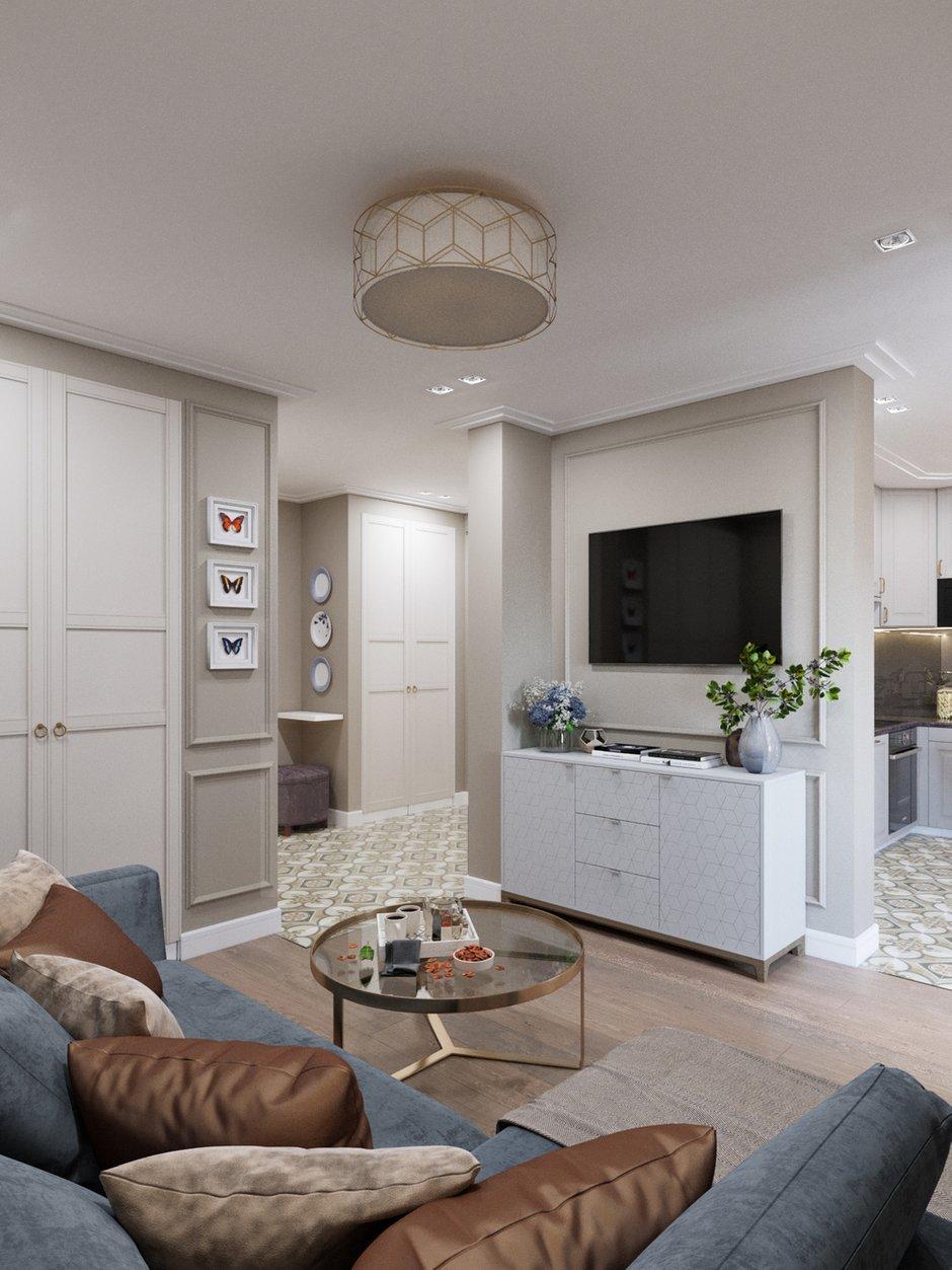 Фотография: Гостиная в стиле Современный, Классический, Проект недели, 1 комната, 40-60 метров – фото на INMYROOM