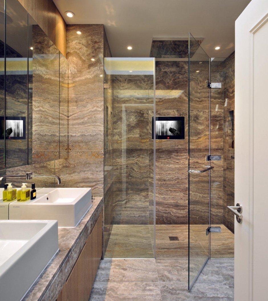 Фотография: Ванная в стиле Современный, Квартира, Flos, Дома и квартиры, Лондон, Лестница, Библиотека, Готический – фото на INMYROOM