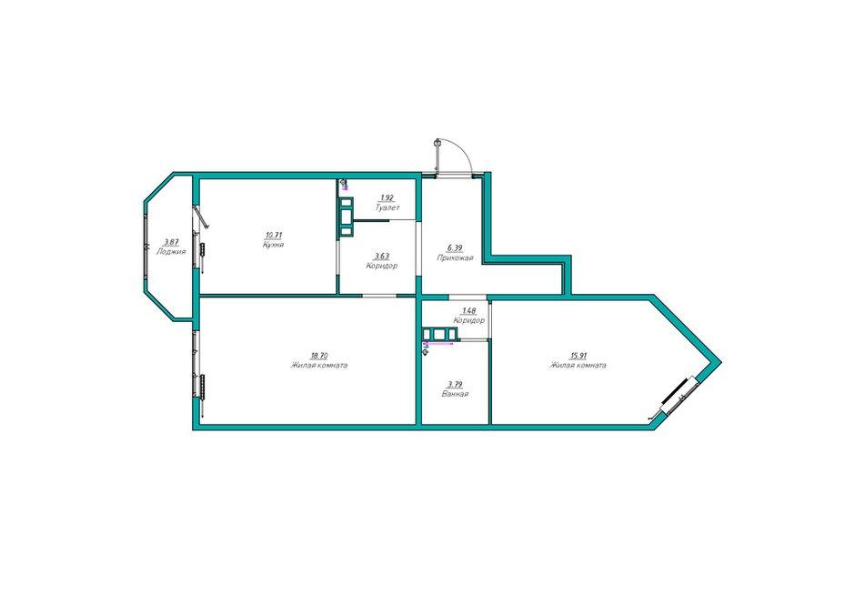 Фотография: Планировки в стиле , Современный, Квартира, Проект недели, Co:Interior, Монолитный дом, 2 комнаты, 60-90 метров, Южно-Сахалинск – фото на INMYROOM