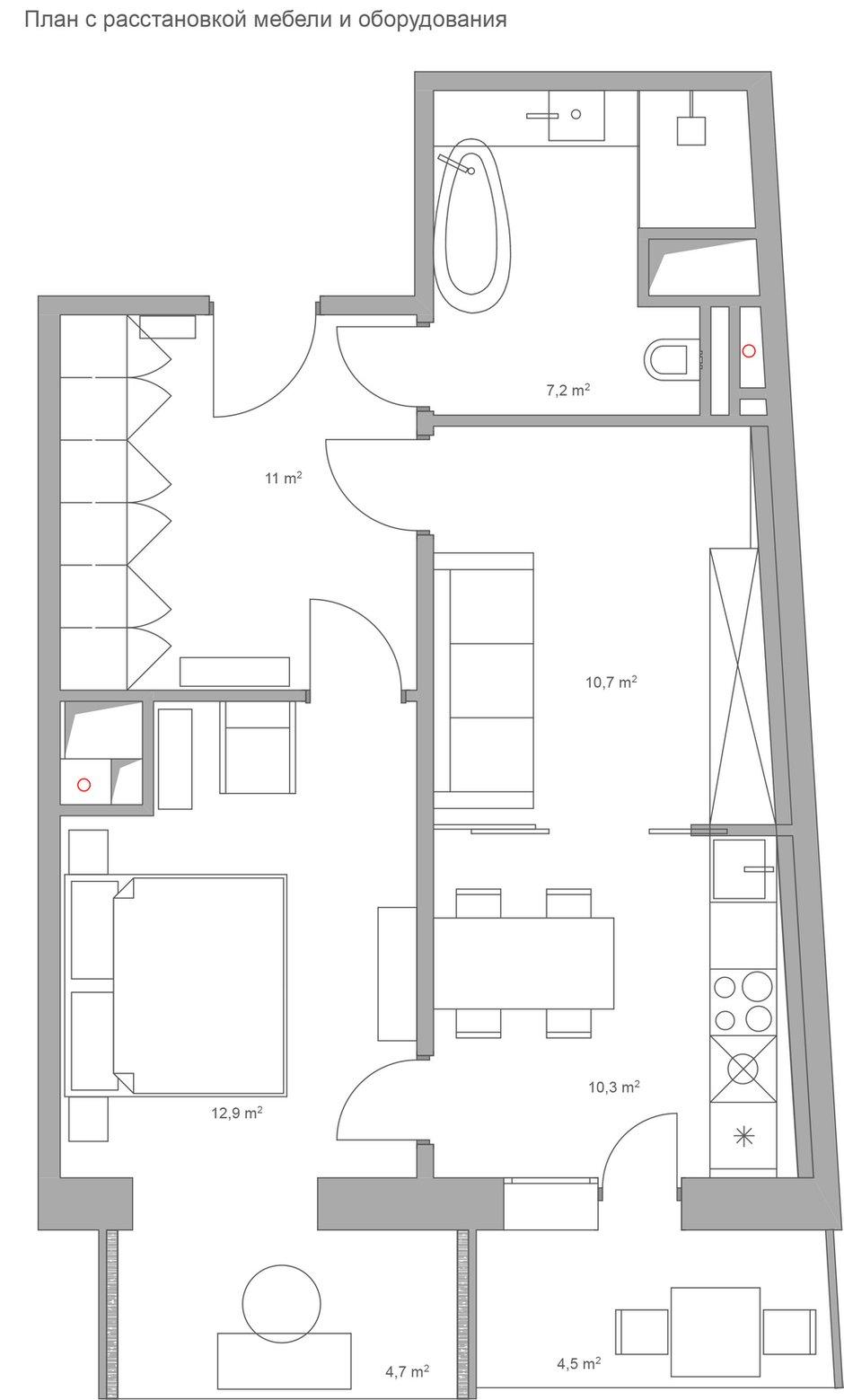 Фотография: Планировки в стиле , Квартира, Проект недели, Монолитный дом, 2 комнаты, 40-60 метров, ЖК «Маяк» – фото на INMYROOM