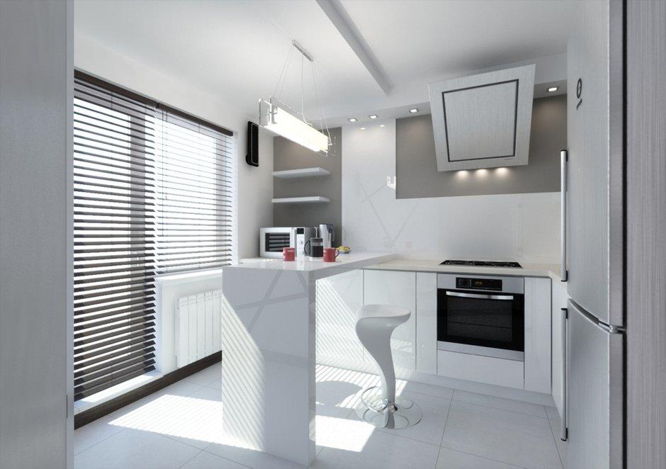 Фотография: Кухня и столовая в стиле Хай-тек, Квартира, Дома и квартиры, Минимализм, Проект недели – фото на INMYROOM