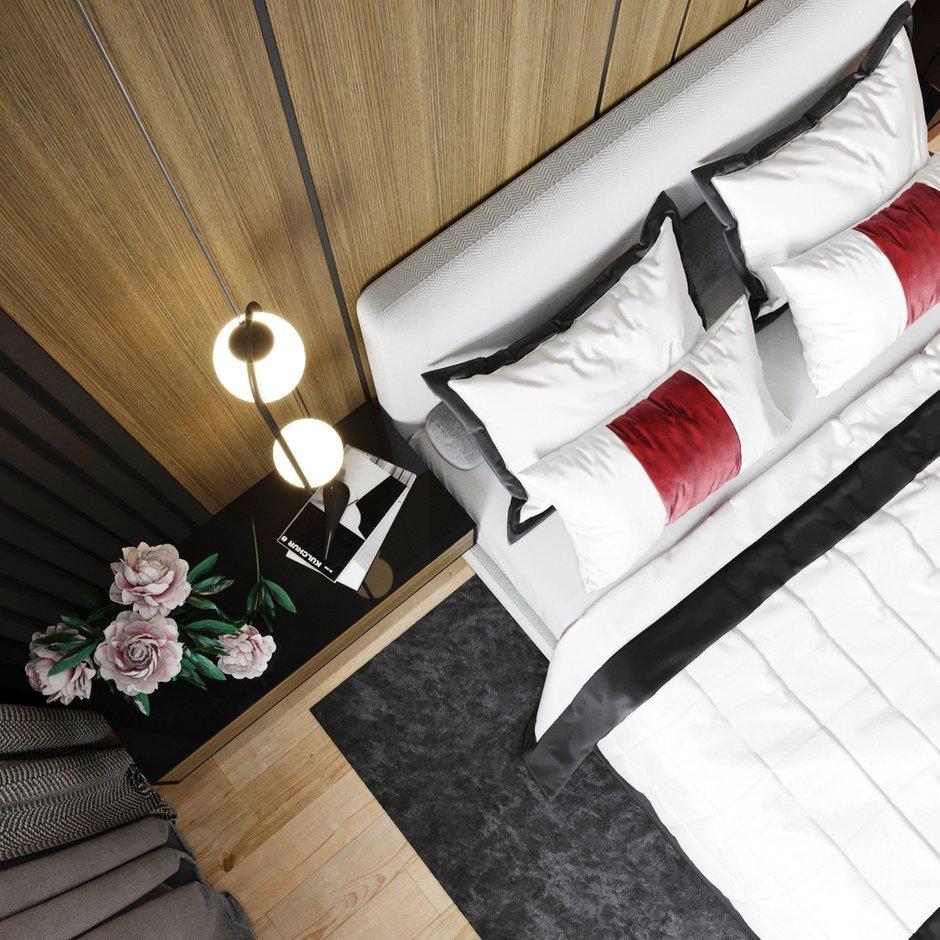 Фотография: Спальня в стиле Минимализм, Современный, Квартира, Проект недели, Новосибирск, студия Mango, 2 комнаты, 40-60 метров, Мария Малышкина – фото на INMYROOM