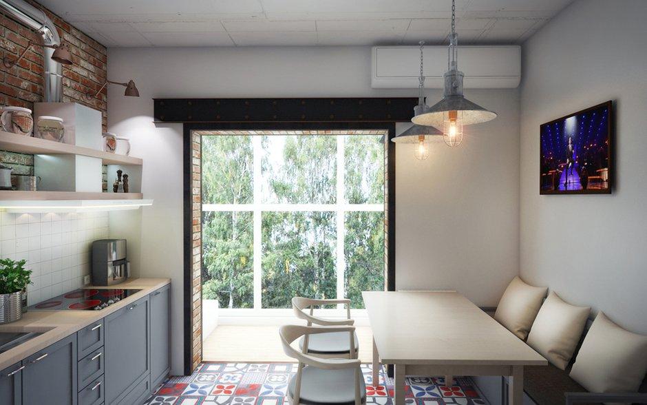 Фотография: Кухня и столовая в стиле Лофт, Эклектика, Квартира, Проект недели, ИКЕА, Circle Line – фото на InMyRoom.ru