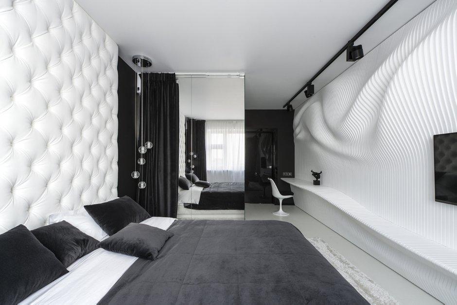 Фотография: Спальня в стиле Хай-тек, Интерьер комнат, Проект недели, Ар-деко – фото на INMYROOM