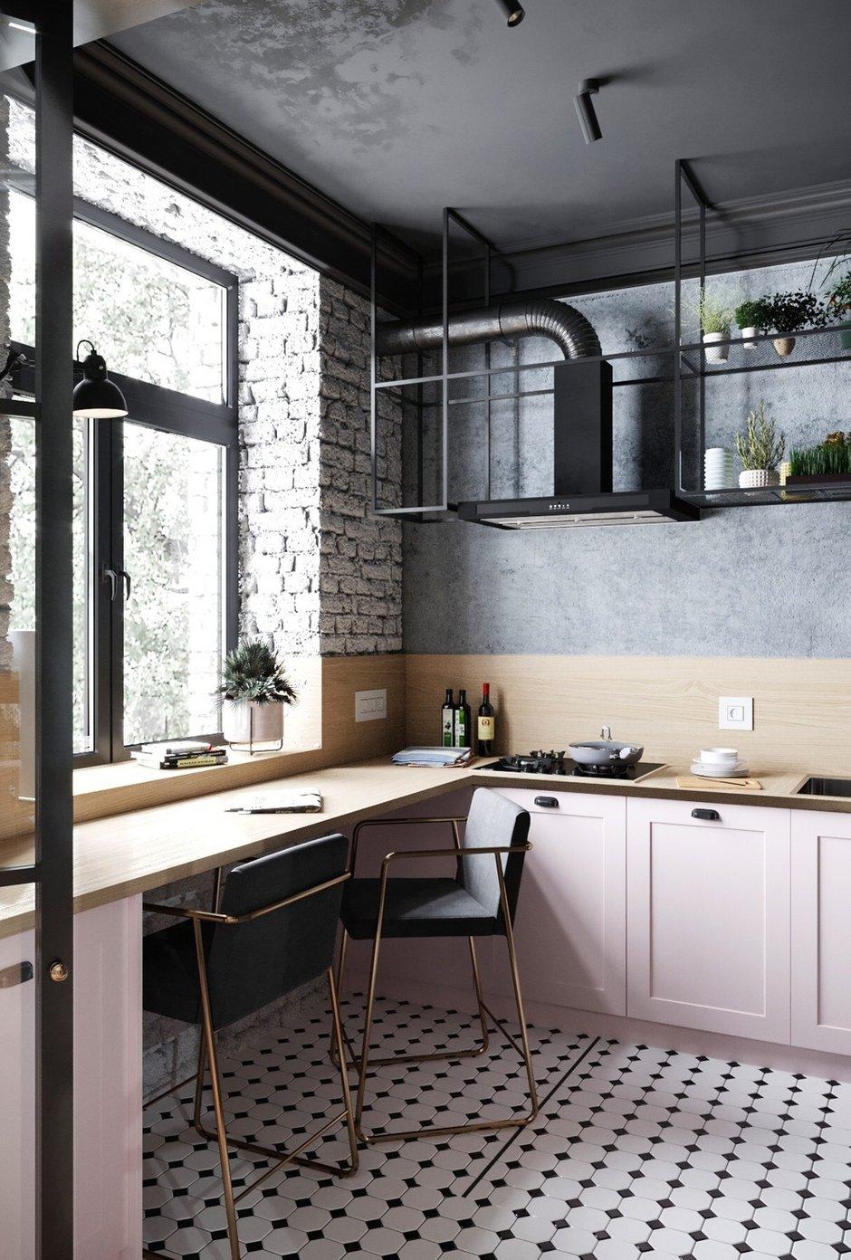 Фотография: Кухня и столовая в стиле Лофт, Эклектика, Квартира, Проект недели, Москва, 3 комнаты, 60-90 метров, Анна Показаньева – фото на INMYROOM
