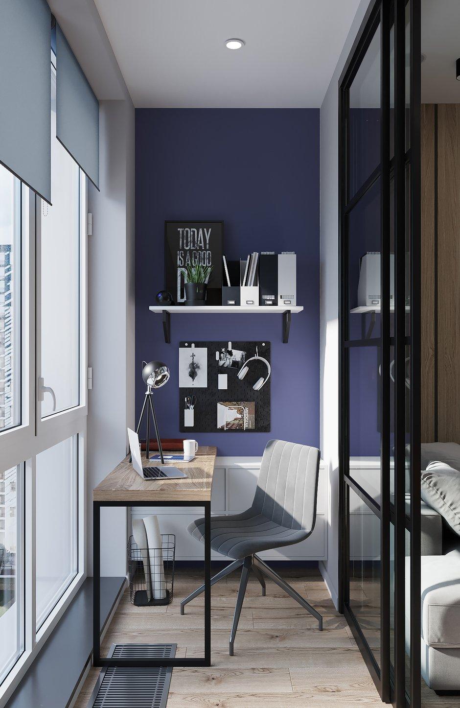 Фотография: Балкон в стиле Современный, Квартира, Проект недели, Москва, 2 комнаты, 40-60 метров, Deus of House – фото на INMYROOM