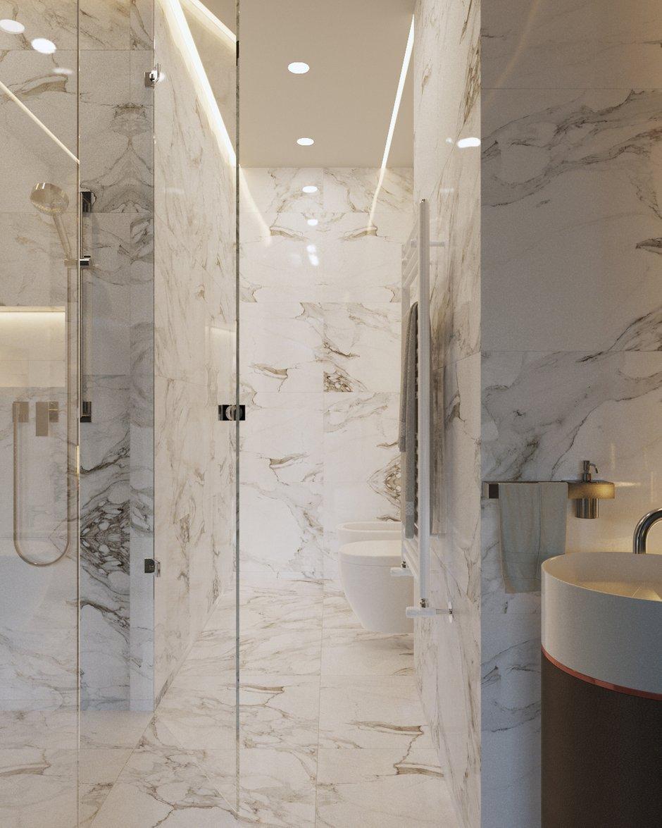Фотография: Ванная в стиле Современный, Квартира, Студия, Минимализм, Проект недели, Монолитный дом, 40-60 метров, Батуми, Грузия, VAE design & architecture – фото на INMYROOM