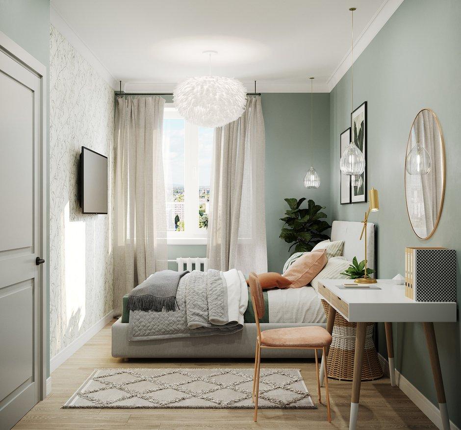 Фотография: Спальня в стиле Скандинавский, Гостиная, Квартира, Проект недели, 1 комната, до 40 метров, Тольятти – фото на INMYROOM