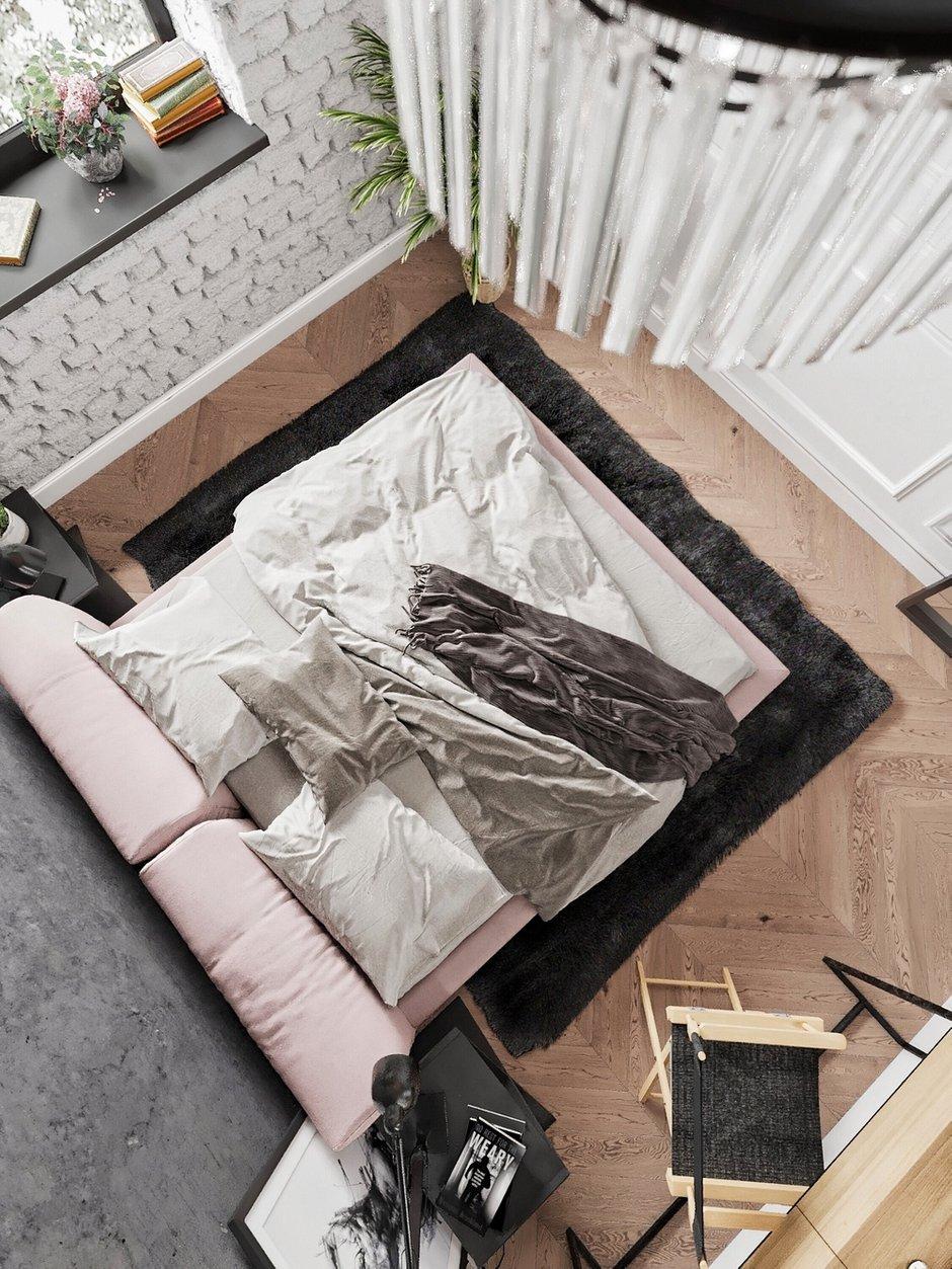 Фотография: Спальня в стиле Лофт, Эклектика, Квартира, Проект недели, Москва, 3 комнаты, 60-90 метров, Анна Показаньева – фото на INMYROOM