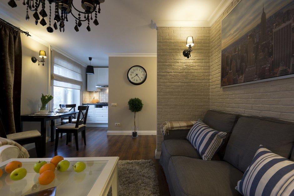 Фотография: Гостиная в стиле Лофт, Эклектика, Современный, Малогабаритная квартира, Квартира, Дома и квартиры – фото на INMYROOM