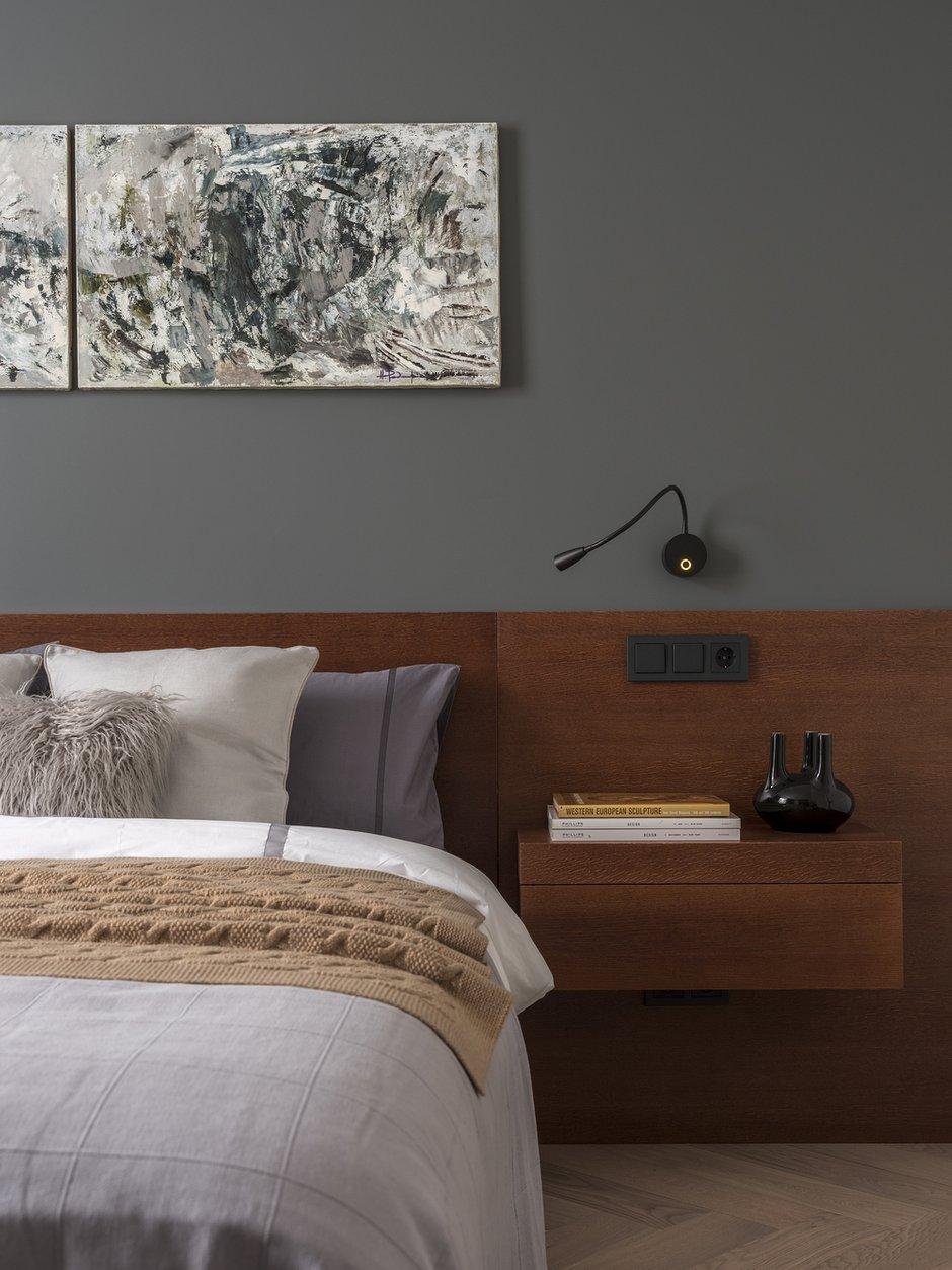 Фотография: Спальня в стиле Современный, Квартира, Проект недели, Москва, Сталинка, 2 комнаты, 40-60 метров, Карина Задвина, Porte Rouge – фото на INMYROOM