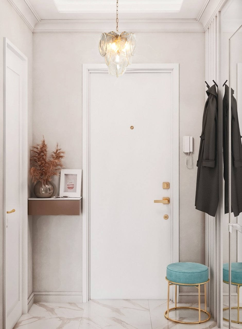Фотография: Прихожая в стиле Современный, Квартира, Проект недели, Красногорск, 1 комната, до 40 метров, 40-60 метров, Алеся Котова – фото на INMYROOM