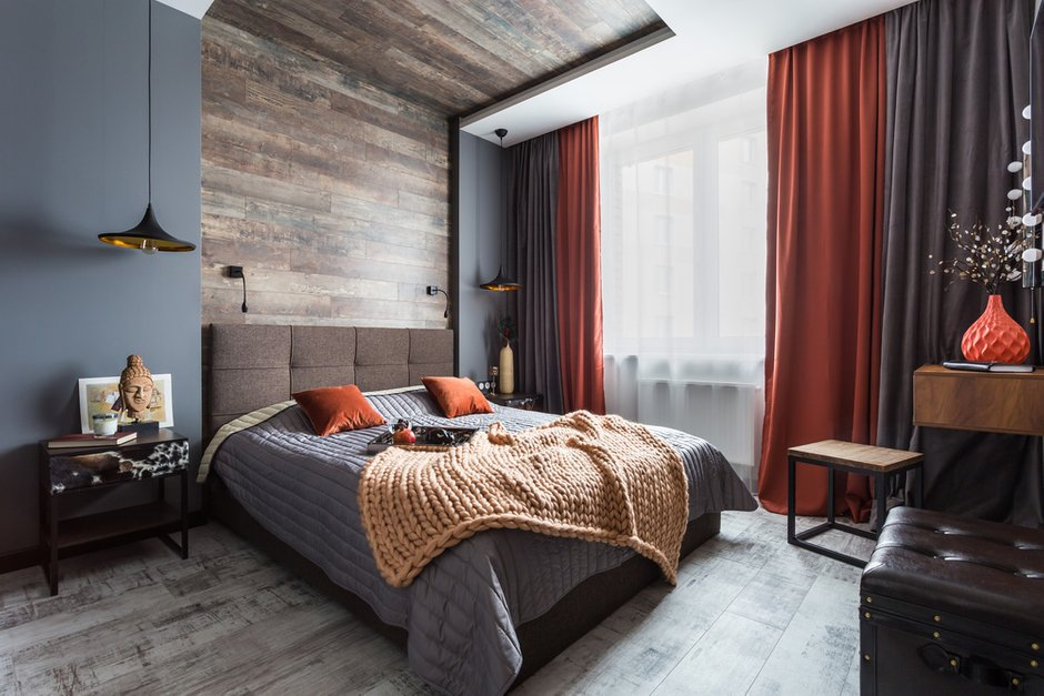 Фотография: Спальня в стиле Современный, Лофт, Квартира, Проект недели, Санкт-Петербург, Монолитный дом, 3 комнаты, 60-90 метров, Дарья Авдеенко – фото на INMYROOM