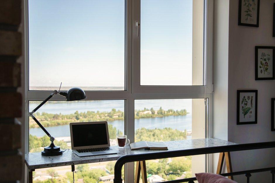 Фотография: Кабинет в стиле Лофт, Квартира, Украина, Проект недели, Монолитный дом, 3 комнаты, 60-90 метров, Роман Луценко, Днепр – фото на INMYROOM