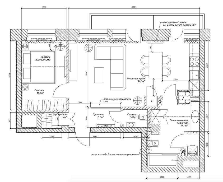 Фотография: Планировки в стиле , Эклектика, Квартира, Проект недели, Москва, Кирпичный дом, 2 комнаты, 40-60 метров, ZE-MOOV – фото на INMYROOM