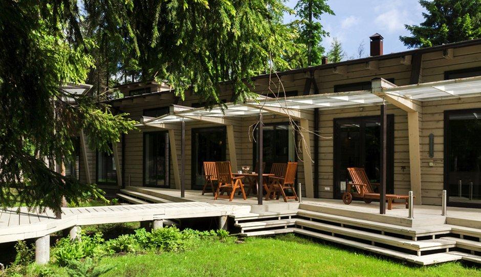 Фотография: Балкон, Терраса в стиле , Дом, Дома и квартиры, Проект недели, Дача, dom-iz-brusa – фото на INMYROOM