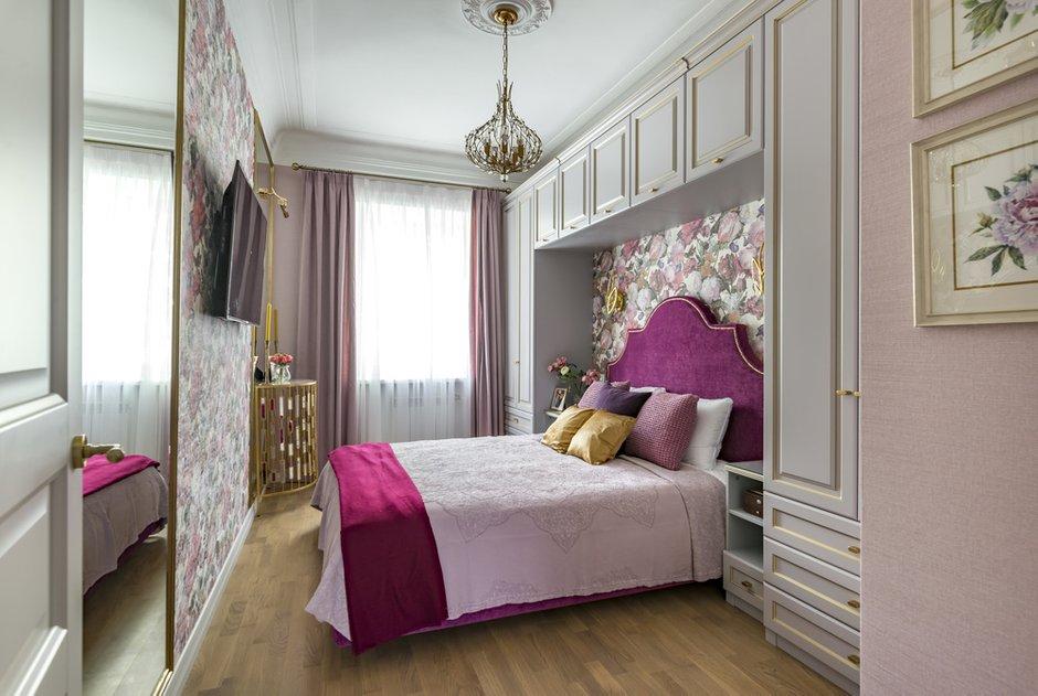 Фотография: Спальня в стиле Классический, Современный, Квартира, Проект недели, Москва, Кирпичный дом, 4 и больше, 60-90 метров, Юлия Левина – фото на INMYROOM