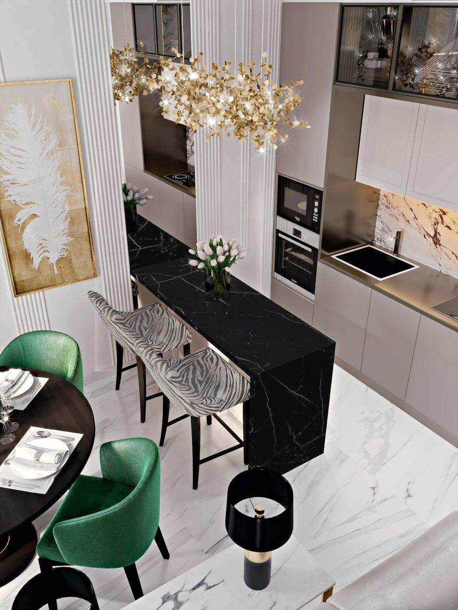 Фотография: Кухня и столовая в стиле Современный, Классический, Квартира, Проект недели, Москва, 3 комнаты, 60-90 метров, Александра Гартке – фото на INMYROOM