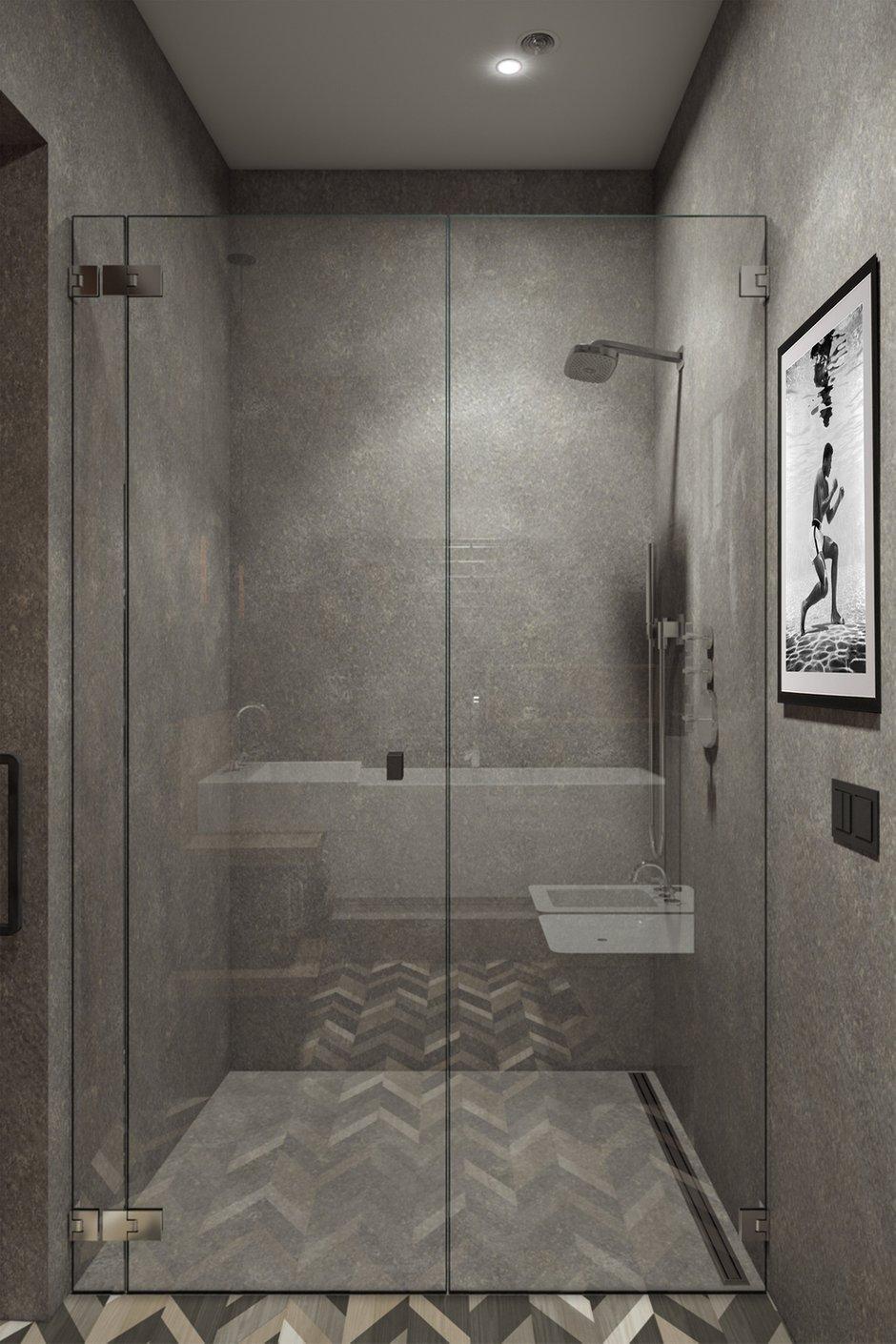 Фотография: Ванная в стиле Современный, Лофт, Квартира, Проект недели, Москва, Диана Мальцева, новостройка, Монолитный дом, 2 комнаты, 60-90 метров – фото на INMYROOM