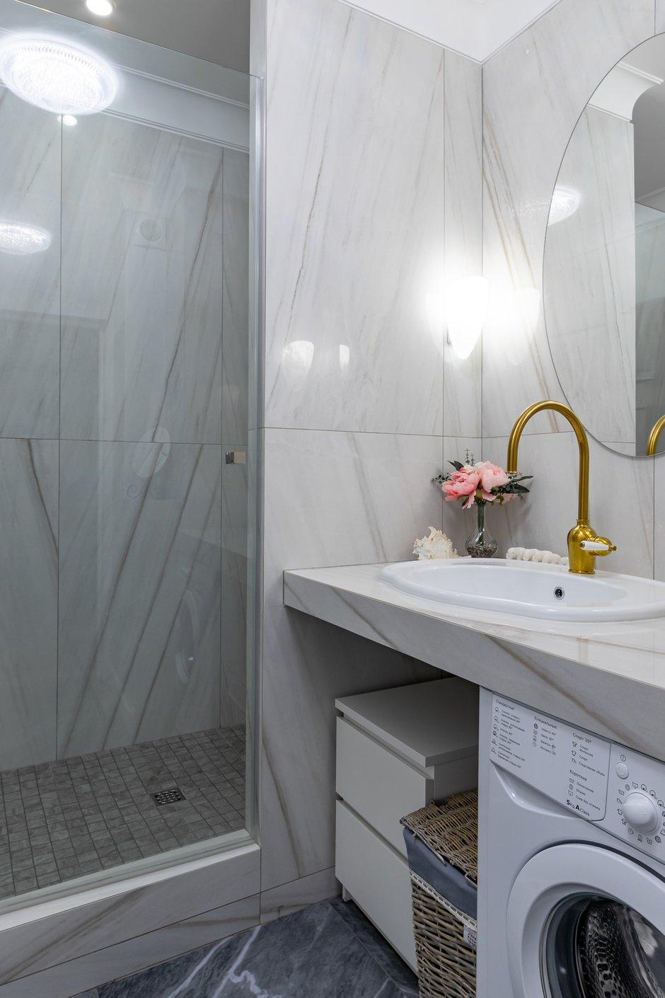 Фотография: Ванная в стиле Современный, Малогабаритная квартира, Квартира, Студия, Проект недели, Санкт-Петербург, до 40 метров, Елена Зингер – фото на INMYROOM