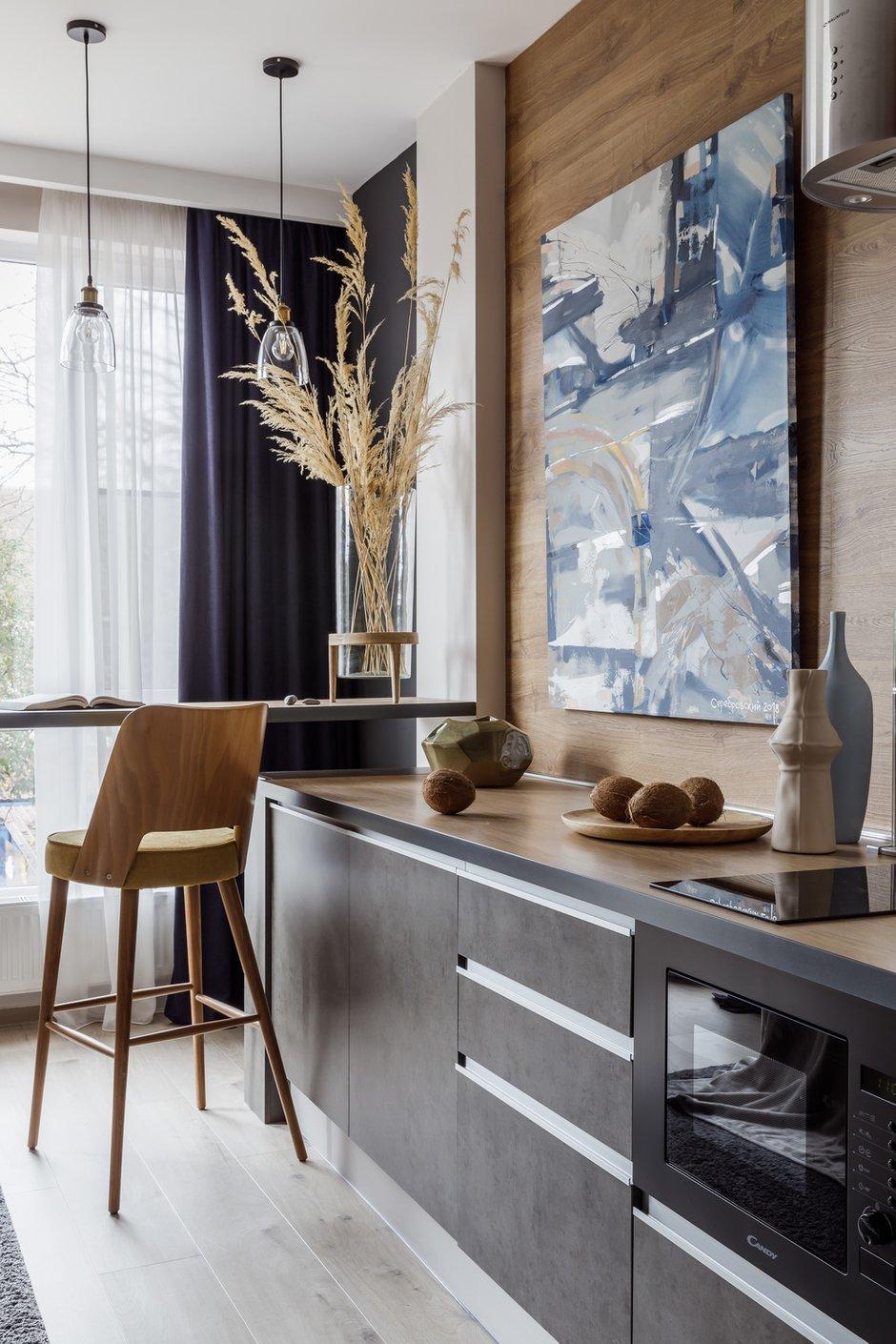 Фотография: Кухня и столовая в стиле Современный, Лофт, Квартира, Студия, Проект недели, до 40 метров, Денис Тарасенко, Адлер – фото на INMYROOM