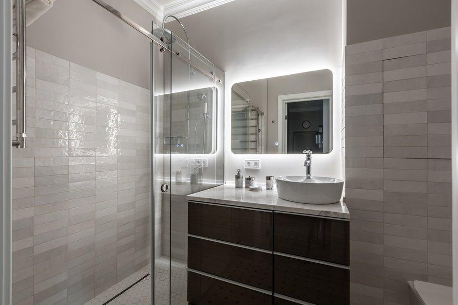 Фотография: Ванная в стиле Современный, Классический, Квартира, Проект недели, Москва, 2 комнаты, 60-90 метров, Muzahouse – фото на INMYROOM