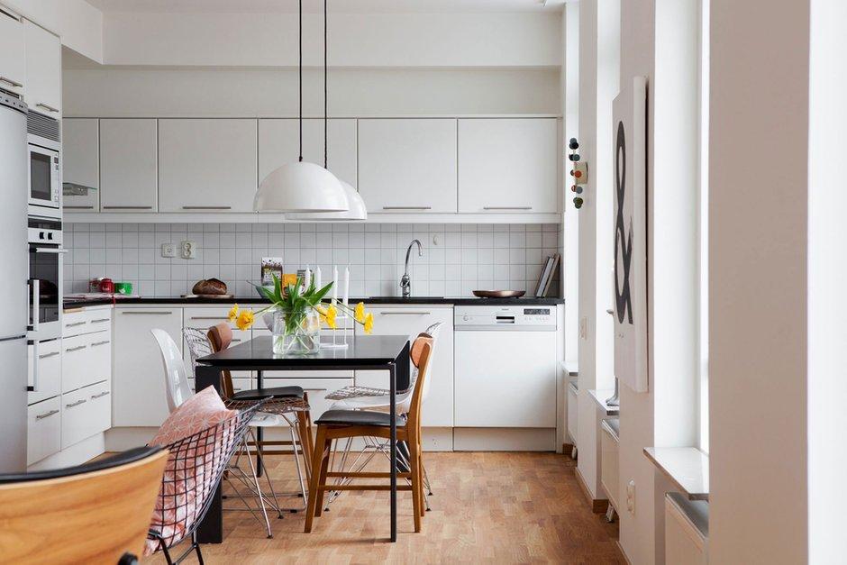Фотография: Кухня и столовая в стиле Скандинавский, Квартира, Дома и квартиры – фото на INMYROOM