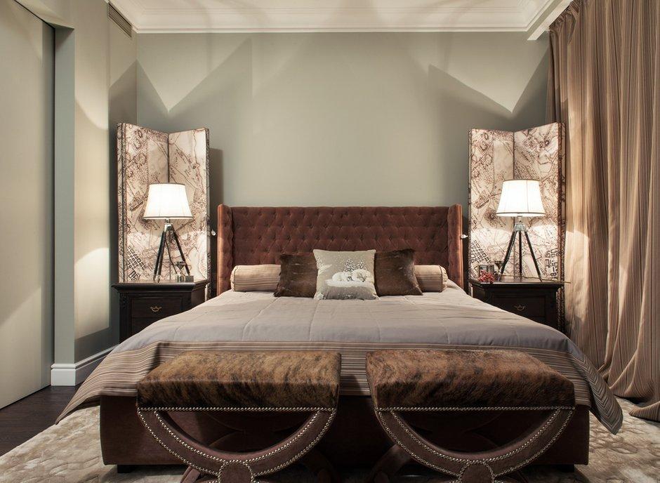 Фотография: Спальня в стиле Современный, Эклектика, Квартира, Дома и квартиры – фото на INMYROOM