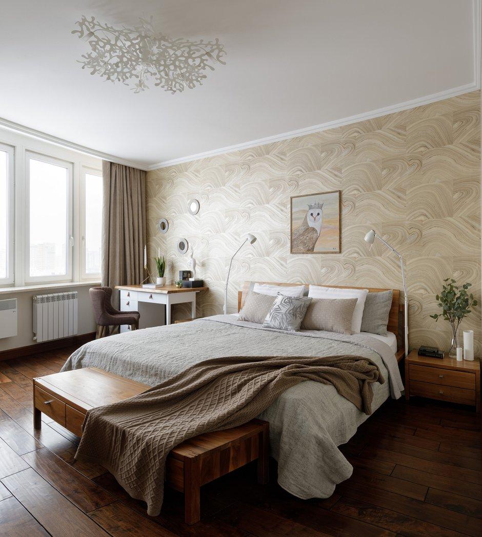 Фотография: Спальня в стиле Современный, Квартира, Минимализм, Проект недели, Москва, Монолитный дом, 4 и больше, Более 90 метров, Дарья Пак – фото на INMYROOM