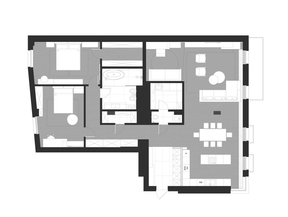 Фотография: Планировки в стиле , Современный, Хай-тек, Квартира, Украина, Проект недели, SVOYA STUDIO, 3 комнаты, Более 90 метров, Днепр – фото на INMYROOM