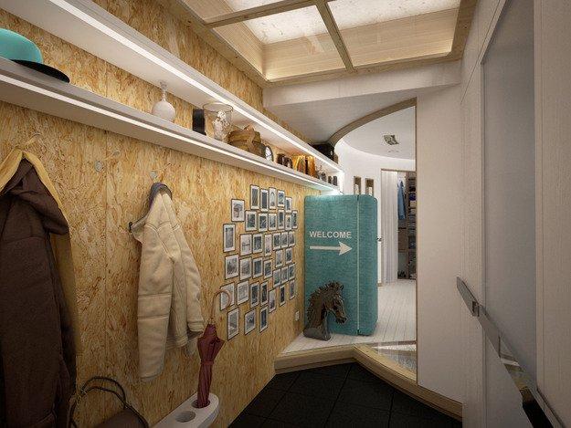 Фотография: Прихожая в стиле Лофт, Современный, Эклектика, Квартира, Перепланировка – фото на INMYROOM