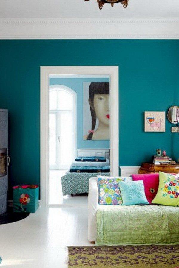 Фотография: Гостиная в стиле Современный, Эклектика, Декор интерьера, Дизайн интерьера, Цвет в интерьере, Dulux, Akzonobel – фото на INMYROOM