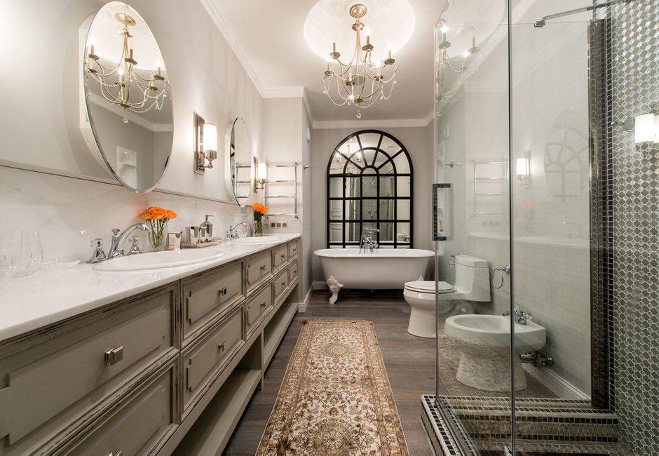 Фотография: Ванная в стиле Классический, Современный, Квартира, Проект недели – фото на InMyRoom.ru