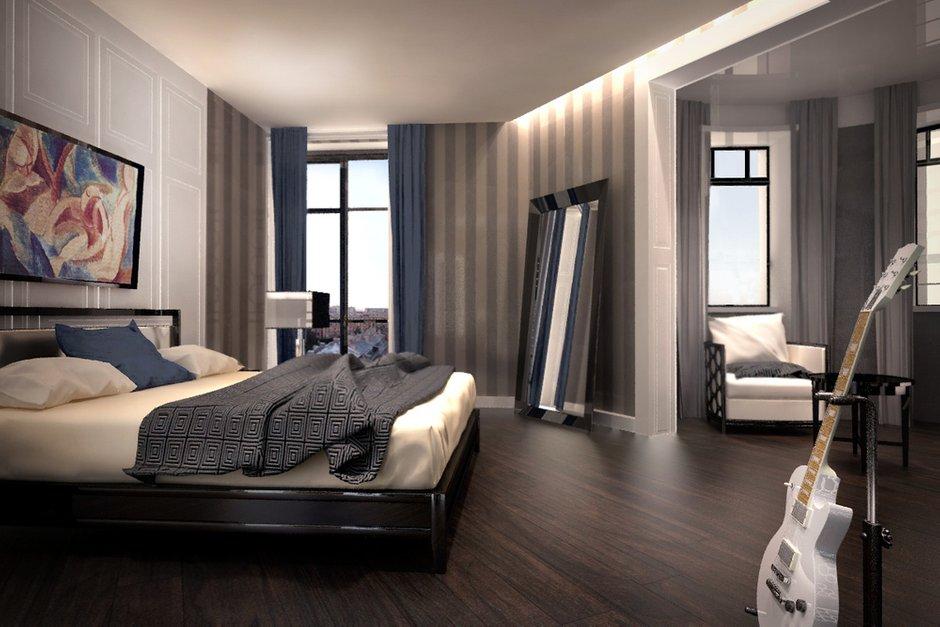 Фотография: Спальня в стиле Современный, Эклектика, Дом, Дома и квартиры – фото на InMyRoom.ru