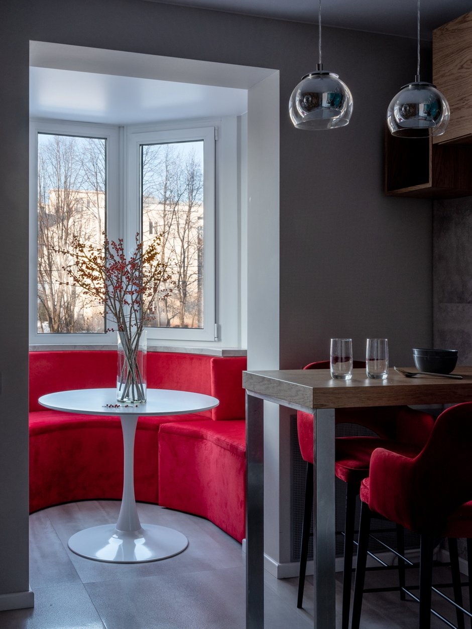 Фотография: Кухня и столовая в стиле Современный, Квартира, Проект недели, Москва, П-55, Панельный дом, 4 и больше, 60-90 метров, Анна Елина – фото на INMYROOM