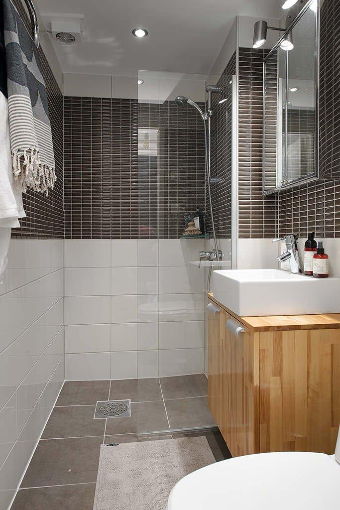 Фотография: Ванная в стиле Современный, Скандинавский, Малогабаритная квартира, Квартира, Дома и квартиры – фото на INMYROOM