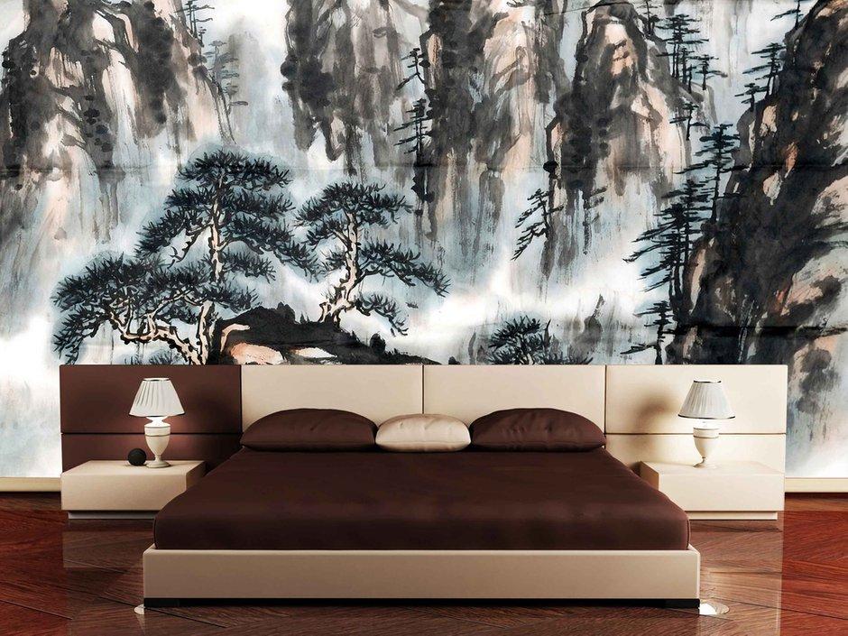 Фотография: Спальня в стиле Современный, Восточный, Декор интерьера, Интерьер комнат, Цвет в интерьере, Коричневый – фото на INMYROOM