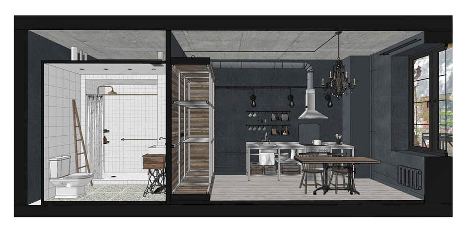 Фотография:  в стиле , Лофт, Квартира, Студия, Проект недели, Москва, Кирпичный дом, до 40 метров, INT2architecture – фото на INMYROOM